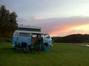 Oban Camper Van at Sunset