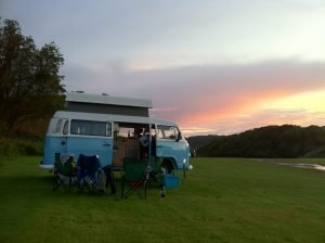 Oban Camper Van at Sunset