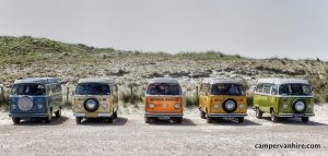 vw campervan line up